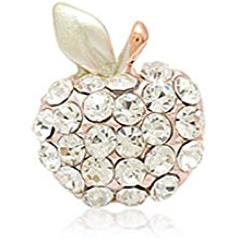 Erica Rhinestone de la camisa del collar de hebilla / pin collar de púas caballo / pin collar de Apple , white