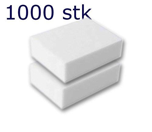 1000 Stück Reinigungsschwamm, Radierschwamm, Schmutzradierer, Wunderschwamm je 10x7x3 cm WEISS