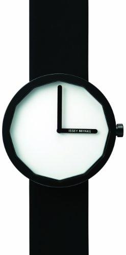 Issey Miyake IM-SILAP002 - Reloj unisex de cuarzo, correa de piel color negro