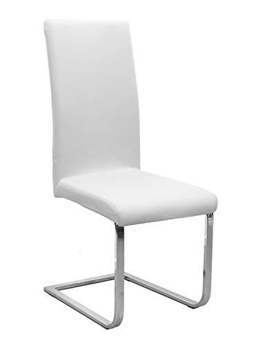 Stuhlhusse Jersey, elastische Stretch Husse Baumwolle Bi-Elastic, Farbe wählbar, Weiß