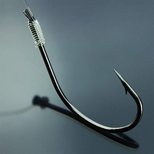 Kaakaeu - 100 ami da pesca in acciaio con supporto per esche e vermi, per attrezzatura da pesca professionale, colore unico, 2#