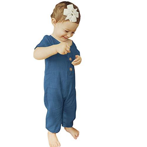 Unisex Kinderbekleidung,ODRD Clearance Sale Sommer-Säuglingsbaby-Jungen Mädchen-Kurzschluss-Hülsen-Rüschen-feste Spielanzug-Overall-Kleidung Kinder Kleinkind Kleidung Body Babyschlafsack Sommer