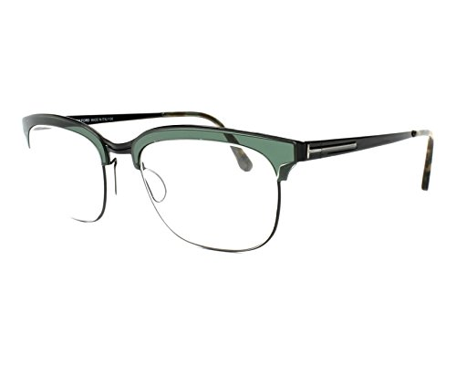 Tom Ford - FT 5393, Rechteckig, Metall, Herrenbrillen, MATTE BLACK GREEN(098 I), 53/20/140