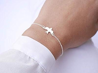 Bracelet oiseau hirondelle argent - bijoux fin argent - bijoux oiseau - bijoux poétique - cadeau saint valentin