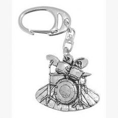fine-quality-english-pewter-drum-kit-keyring-lovely-gift-idea