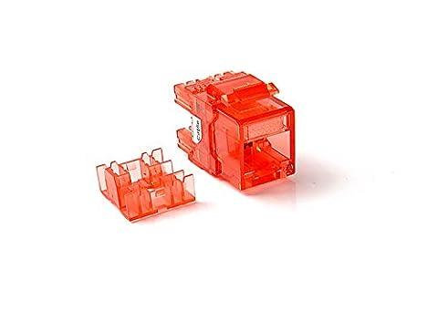 CAT5e RJ45 Transparent Unshielded Keystone Jacks Modul für Faceplate & Wandbox & Patch Panel 10pcs / pack (Red)