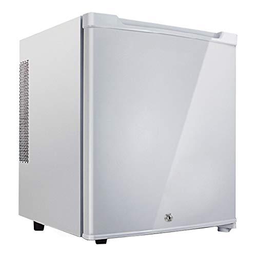 ICEY 30 Liter Niedrigenergie A + Mini Kühlschrank, Wein & Getränke Kühlschrank, Mit Schloss und Schlüssel Hotel Kühlschrank, Komplett leise Minibar,White - Mini-kühlschrank-schlüssel