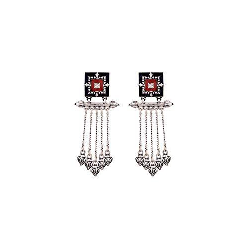 Voylla Dangler Earrings for Women (Multi-colour) (8907617912349)