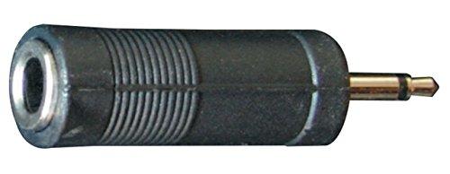Bespeco AD120 connettore Jack Mono, 3,5 mm/presa Mono, 6,3 mm, colore: nero