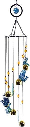 StealStreet 61500683,8cm Bass Fisch Design Messing Metall Circle Top Handy mit Glocken Handy Messing