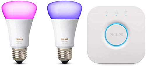 Philips Hue White and Color - Starter Kit (2 lampadine + bridge)