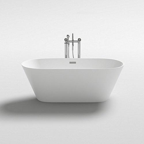 Vasca da bagno 170x80x58h, 160x80x58h, 150x75x58h freestanding bianca design moderno centro stanza i