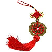 Nuovo Hand Craft Set di 10 Chinese Traditional Ornamental Knot Tassel Feng Shui portafortuna antico I CHING Monete di Prosperity protezione