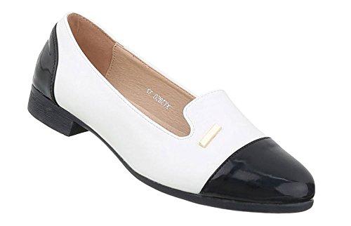 huhe Halbschuhe Slipper Weiß Schwarz 39 (Schwarze Und Weiße Oxford-schuhe)