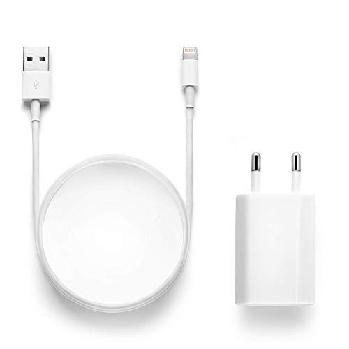 Chargeurs Secteur with Câble, Adaptateur USB Universel Mural & Chargeur Phone pour iPhone XS,XR,XS Max,X,8,8 Plus,7,7 Plus 6s Plus 5s,2M Cabl