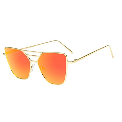 Honestyi Mode unisex Vintage unregelmäßige Gläser Spiegel Sonnenbrillen BZ464 weibliche Herren Sonnenbrille mit unregelmäßiger Form