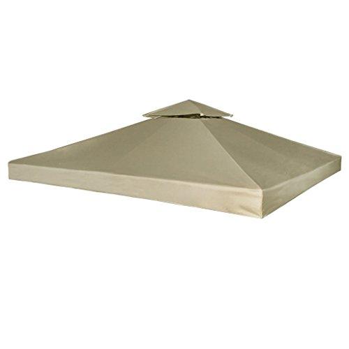 vidaXL Toile Imperméable de Rechange pour Tonnelle 3x3 m Beige Bâche de Tente