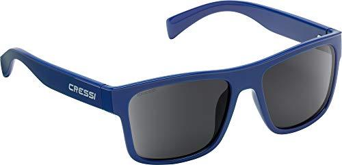 Cressi Unisex- Erwachsene Spike Sunglasses Sport Sonnenbrillen, Blau Navy/Verspiegelte Linsen Silber, One Size