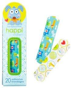 happi-animals-cute-adhesive-bandage-plasters-blue-dog