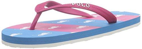 Polo Ralph LaurenAmino Stripe - Infradito Bambina , Rosa (Pink (pink rubber/ev w yellow)), 27