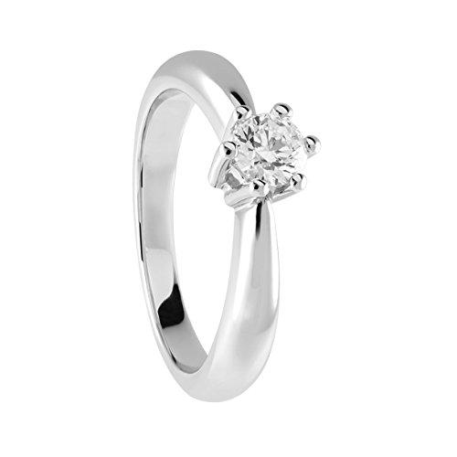 Diamond Line Damen - Ring 585er Gold 1 Diamant ca. 0,35 ct., weißgold