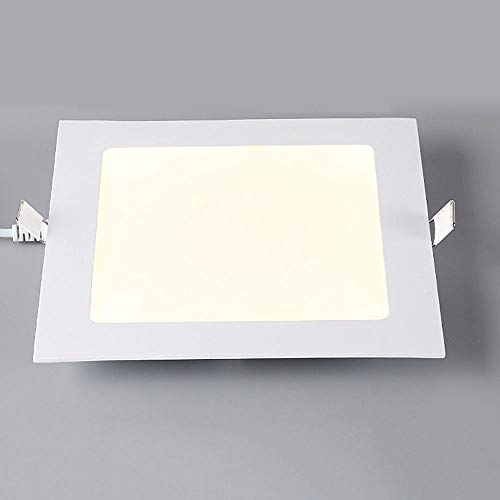 Woerled Moderno Led Ultra-delgado Empotrable Downlight Cuadrado Europeo Incrustado Pantalla de panel...