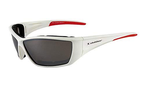 Slokker Sonnenbrille Mod. 50041 Climber Glacier White red