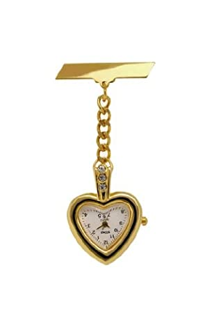 Bling Gold Fob Watch Great Midwife Nurse Gift