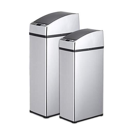4l Bad Möbel (Luxury-uk Einfache Dekoration Mülleimer 3L / 4L Sensor Automatische Mülleimer Müllbehälter Berührungslose Edelstahl Abfallbehälter für Küche Büro (Farbe : 4L))
