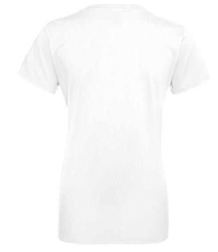 Sternzeichen Widder - Astrologie - Damen Rundhals T-Shirt Weiss/Neonpink