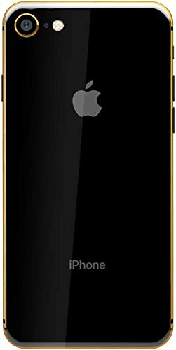 Apple iPhone without FaceTime Plated - Apple iPhone 8 without FaceTime - 256GB, 4G LTE, Black with Gold Plated Frame