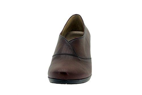 Scarpe donna comfort pelle Piesanto 3432 scarpe casual comfort larghezza speciale Burdeos