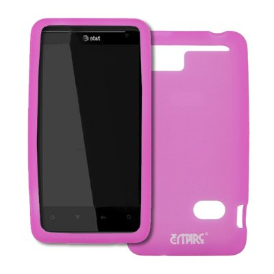 EMPIRE Hot Pink Silicone Skin Case Cover for AT&T HTC Holiday