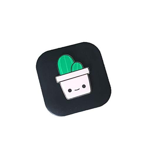 kanggest Reise Cartoon Design Kontaktlinsenbehälter Kaktus Muster Kontaktlinsenhalter mini Kontaktlinsen Behälter Kit Kontaktlinsen Spiegel Box Case Aufbewahrungsbehälter für Zuhause und Reisen