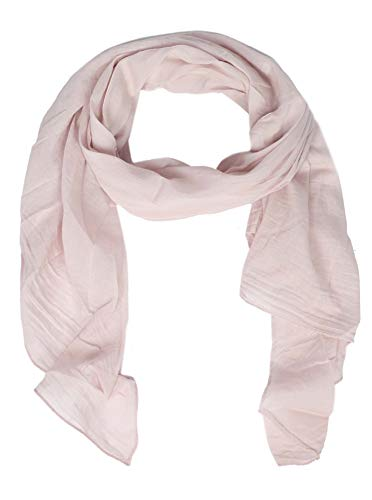 Cashmere Dreams Seiden-Tuch im Uni Design - Hochwertiger Schal für Damen Mädchen - Halstuch - Umschlagstuch - Loop - weicher Schlauchschal für Sommer Herbst und Winter Zwillingsherz - hellrose -