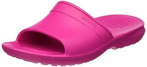 Crocs Classic Slide, Unisex - Erwachsene Sandalen, Pink (Candy Pink), 38/39 EU - Pink Womens Beach-crocs