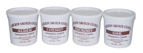 Wood Smoking Chips, Kirsche, Hickory, Eiche und Erle Holz RAUCHER Value Pack Set von 4wiederverschließbaren Pints