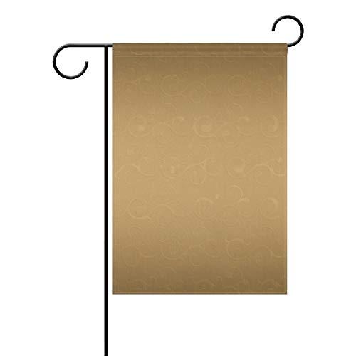 DEZIRO Klassische Königs-Paisleyflagge mit goldenem Muster, Gartenflagge, doppelseitig, Polyester, 1, 12x18(in)
