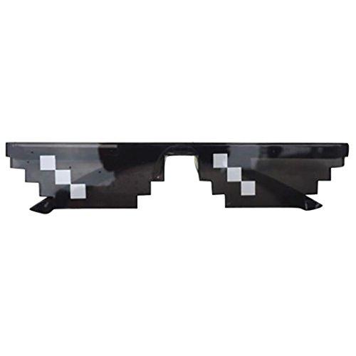 Amlaiworld Mode Unisex Thug Life Mosaik Gläser sonnenbrillen strand Pixel Spiel Sunglasses Polarisierte reflektierenden Linse outdoor brillen (A)