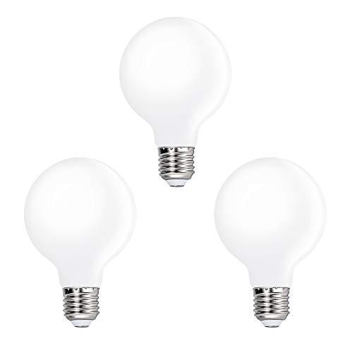 Lampade lampadine rotonda a g80 globo led edison e27 6w luce fredda 5000k illuminazione omnidirezionale sostituire lampadina incandescenza 60w, lot di 3 di enuotek