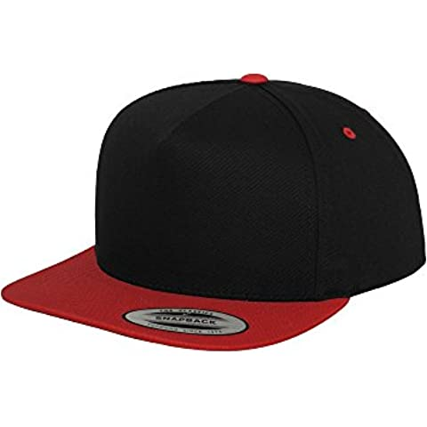 Classic 5 Panel Snapback blk/red one size