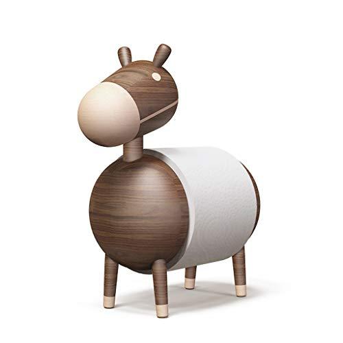 Betty & Co Küchenrollenhalter Holz/Papier Handtuchhalter Bad Toilettenpapierständer Exquisite Handwerk Ornamente Cartoon Little Ekey Massivholz