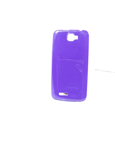 iCandy™ Colorfull Thin Soft TPU Back Cover For Micromax Canvas Mad A94 - Purple  available at amazon for Rs.109