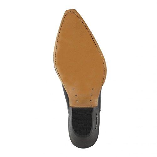 Sendra Boots 1692 Pull Negro/ Damen und Herren Westernstiefelette Schwarz/ Herrenstiefelette/ Damenstiefelette Schwarz