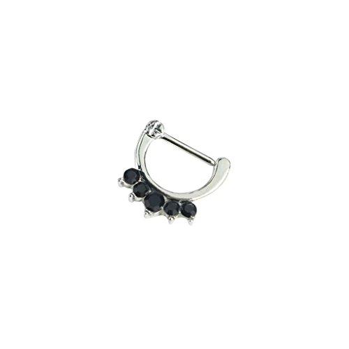 LUFA Women's AAA Zircon Piercing Nose Open Hoop Ring Zinc Alloy Nose Rings