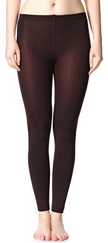Merry Style Damen Thermo Leggings mit Innenfleece 24550 Extra Warm (Braun (24551), 40/42) (Hose Muster Von Ausarbeitung)
