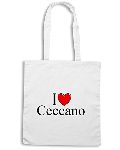 T-Shirtshock - Borsa Shopping TLOVE0031 i love heart ceccano Bianco