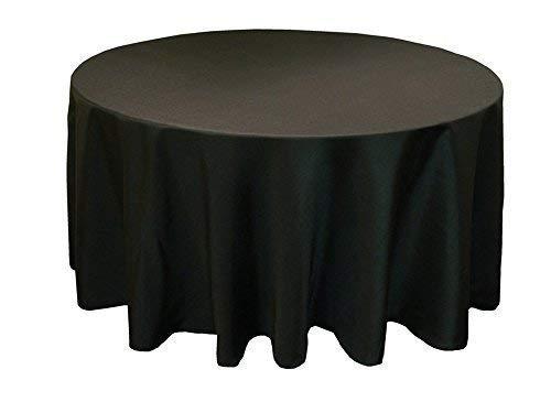 Mantel Redondo Negro Lino Banquete poli IMPECABLE