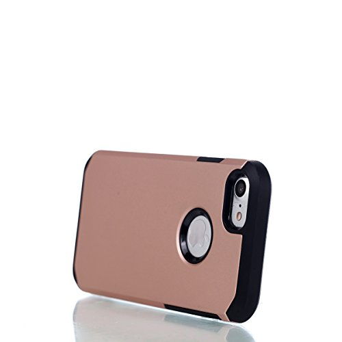 iPhone 8 Hülle,iPhone 7 Hülle,Handyhülle iPhone 8 / iPhone 7 Silikon Hülle,ikasus® [Heavy Duty Serie] Hybrid Outdoor Dual Layer Armor Hülle Case Handy Schutzhülle für Apple iPhone 8 / iPhone 7 Silikon Ros Gold