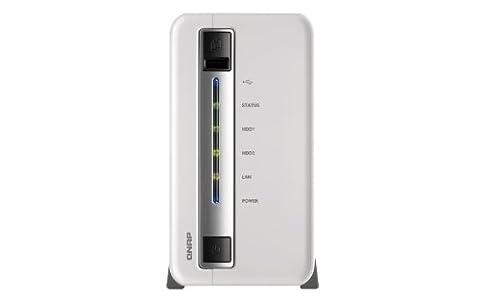 Qnap TS-212P-6TB-WR NAS-System 6TB (2-Bay Diskless, SATA I/II, 1x USB 2.0, 2x USB 3.0)